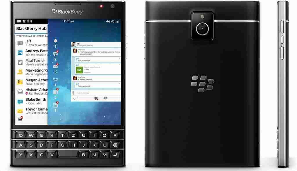白ロム 中古 SIMフリー BlackBerry Passport SQW100-1 ブラック 本体のみ [Cランク]