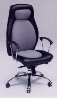 〔本革〕 プレジデントチェアー H-950L (オフィスチェア ビジネスチェア) (ブラック(黒) グレー)【送料無料】