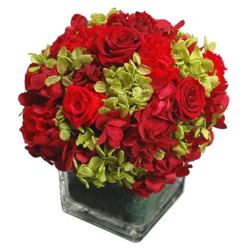 プリザーブドフラワー レッド ROUND(S) 母の日 プレゼント 記念日 公式通販サイト