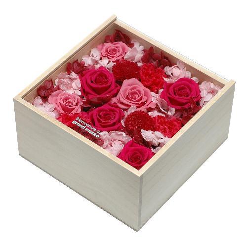 プリザーブドフラワー ピンク WOOD(L) 母の日 プレゼント 記念日 公式通販サイト
