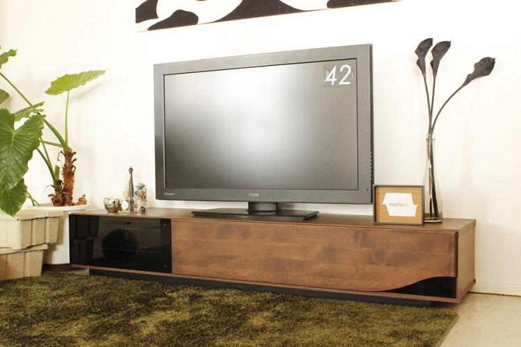 東馬 クアトロ 180cm テレビボード ブラウン 茶色 テレビ台 ローボード 木製 北欧風 リビング収納 TVボード tohma 人気