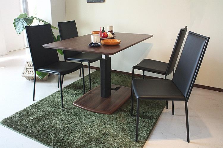 東馬 クアトロ ダイニング昇降テーブル ブラウン 茶色 リフティングテーブル リビングテーブル センターテーブル 木製 北欧風 tohma 人気