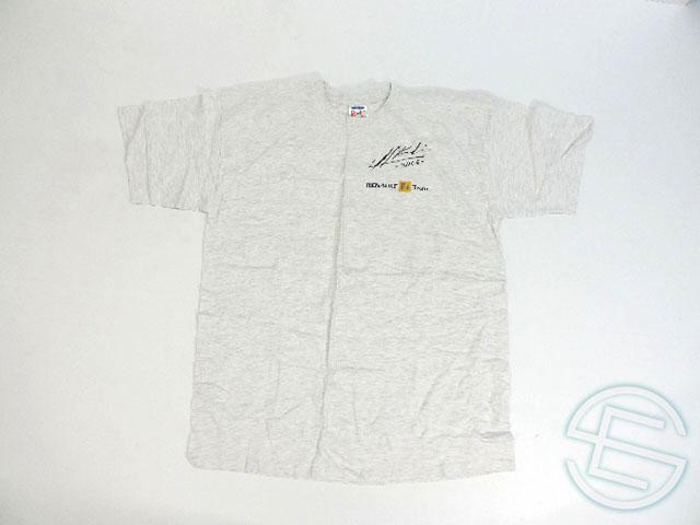 【送料無料】 ヘイキ・コバライネン 直筆サイン入り 2005年 ルノー 支給品 Tシャツ XL 5/5 (海外直輸入 F1 非売品USEDグッズ)
