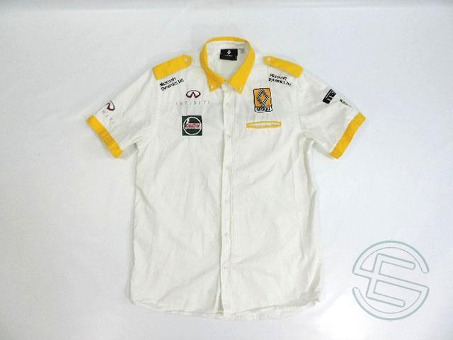 【送料無料】 ルノー 2017年 支給品 40周年記念 ピットシャツ メンズ 3size 5/5 (海外直輸入 F1 非売品USEDグッズ)