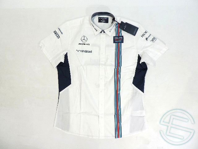 【送料無料】 マルティニ・ウィリアムズ 2017年 支給品 ハケット製 上層部用 ロシア、バーレーン版 ピットシャツ メンズ XL new 新品 (海外直輸入 F1 非売品USEDグッズ)