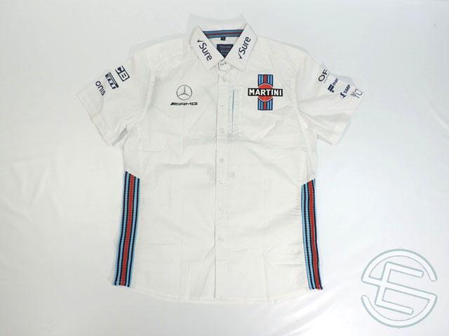 【送料無料】 マルティニ・ウィリアムズ 2018年 支給品 イギリスGP版 ピットシャツ メンズ M 5/5 (海外直輸入 F1 非売品グッズ)