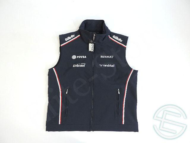 【送料無料】 ウィリアムズ 2012年 支給品 ソフトシェル ベスト ジレ メンズ M new 新品 (海外直輸入 F1 非売品USEDグッズ)
