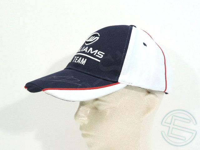 【送料無料】 ウィリアムズ 2013年 ボッタス & マルドナード 直筆サイン入り 支給品 クルー用 キャップ 帽子 new 新品 (海外直輸入 F1 非売品グッズ)