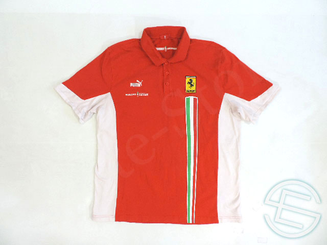 【送料無料】 フェラーリ 2007年 支給品 フィオラノサーキット用 ストレッチ素材 ポロシャツ メンズ XL 3/5 (海外直輸入 F1 非売品USEDグッズ)
