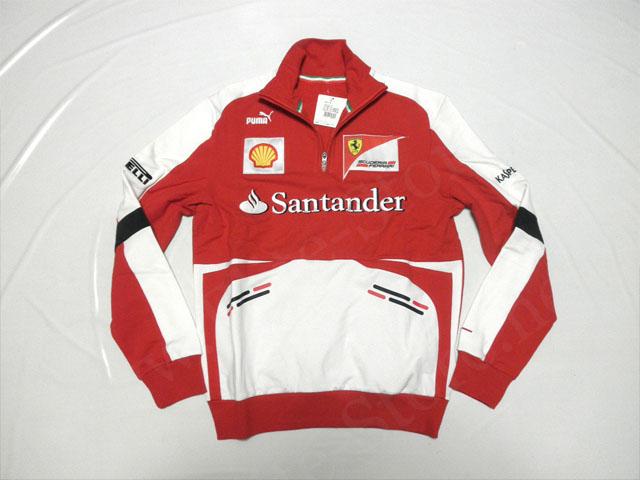 【送料無料】 フェラーリ 2013年 支給品 ハーフZIP プルオーバー メンズ M new 新品 (海外直輸入 F1 非売品グッズ)