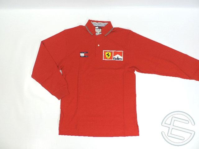 【送料無料】 フェラーリ 1999年 支給品 トミーヒルフィガー製 マルボロ版 ドライバー用 長袖 ポロシャツ メンズ S used (海外直輸入 F1 非売品USEDグッズ)