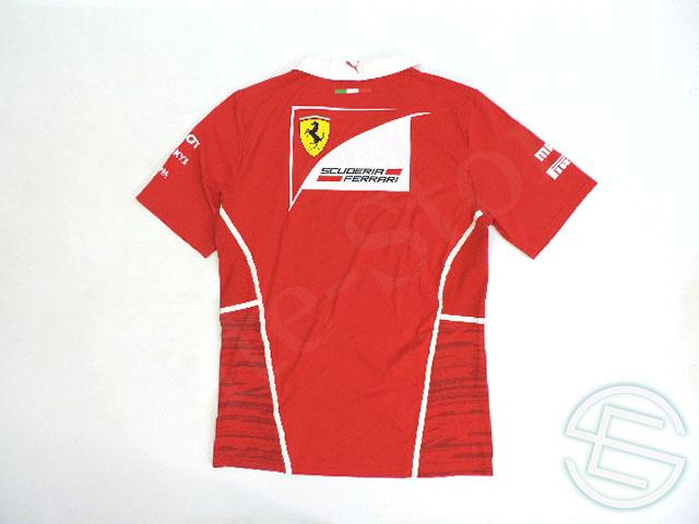 【送料無料】 フェラーリ 2017年 支給品 ドライバー用 ストレッチ素材 襟付き Vネック Tシャツ メンズ new 新品 (海外直輸入 F1 非売品グッズ)