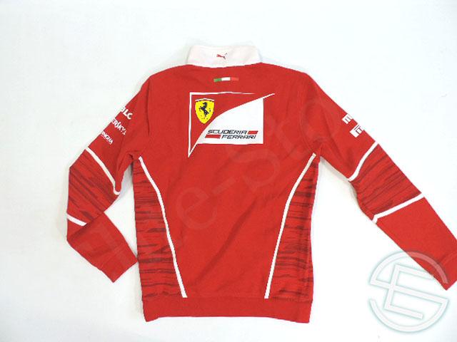 【送料無料】 キミ・ライコネン 2017年 フェラーリ 支給品 ドライバー用 実使用 ハーフZIP プルオーバー ジャージ ジャケット トレーナー メンズ (海外直輸入 F1 非売品グッズ)