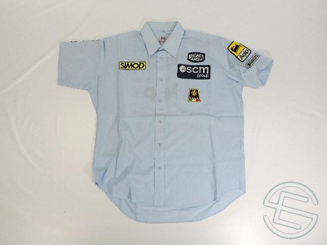 【送料無料】 ミナルディ 1990年 支給品 ピットシャツ メンズ 3/5 (海外直輸入 F1 非売品USEDッズ ビンテージ品)