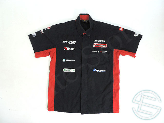 【送料無料】 ミナルディ 2003年 支給品 半袖 ピットシャツ メンズ L 4/5 (海外直輸入 F1 非売品USEDグッズ)