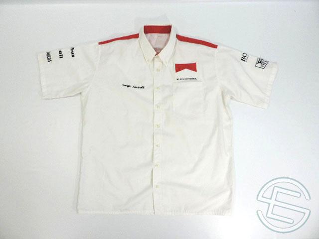 【送料無料】マクラーレン・ホンダ 1992年 支給品 ノンタバコ版 ピットシャツ メンズ 3/5 (海外直輸入 F1 非売品USEDグッズ)