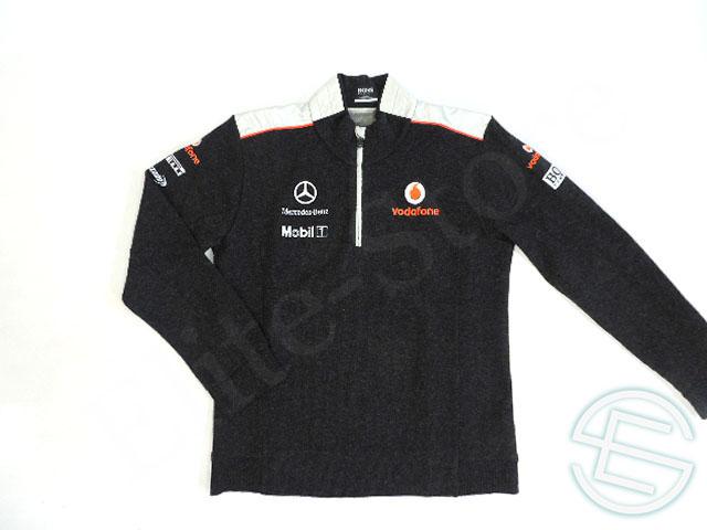 【送料無料】 マクラーレン 2012年 支給品 ヒューゴボス製 ノンアルコール版 ウール混 ハーフZIP プルオーバー メンズ L 4/5 (海外直輸入 F1 非売品USEDグッズ ベンツ)