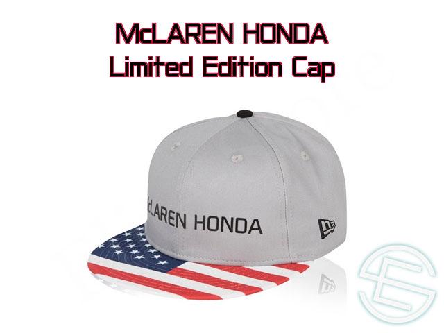 【即納可】 マクラーレン・ホンダ 2017年 アメリカGP限定 NewEra ニューエラ製 キャップ new 新品 (海外直輸入 F1 グッズ)