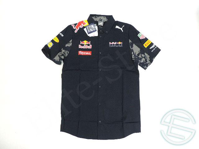 【送料無料】 レッドブル レーシング 2016年 ドイツGP 支給品 上層部用 ストレッチ素材 半袖 ピットシャツ メンズ M new 新品 (海外直輸入 F1 非売品USEDグッズ)