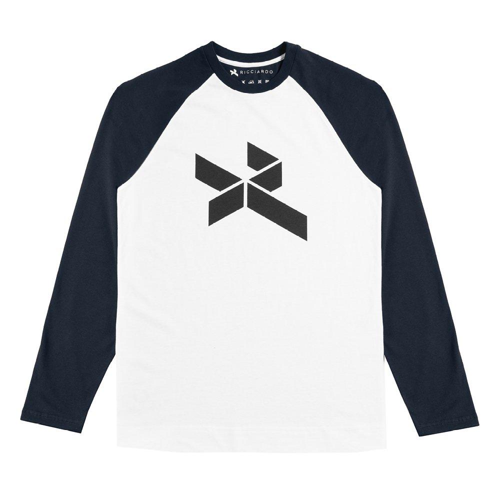 【即納可】 ダニエル・リカルド 2017年 公式 オリジナルロゴ入り ロングスリーブ シャツ 長袖 ネイビー 紺 メンズ new 新品 (海外直輸入 F1 グッズ)