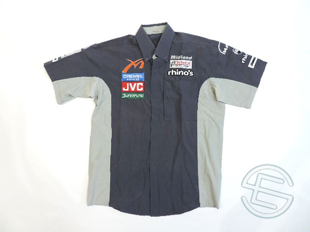 【送料無料】 ミッドランド 2006年 支給品 ピットシャツ メンズ L 4/5 (海外直輸入 F1 非売品USEDグッズ)