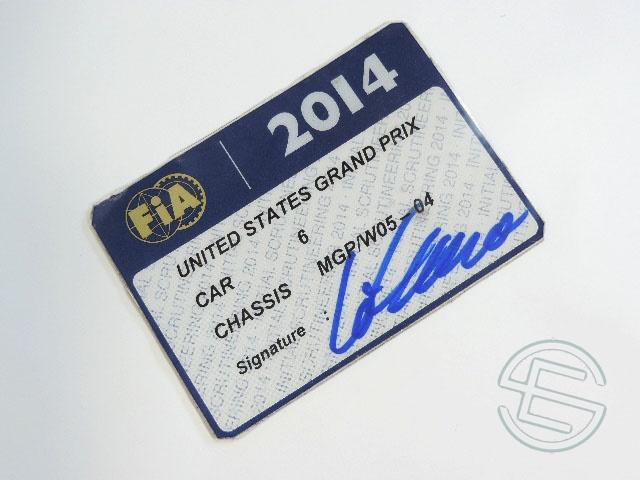 【送料無料】 ニコ・ロズベルグ 2014年 メルセデス AMG アメリカGP W05-04 実使用 車検証 (海外直輸入 F1 非売品USEDグッズ)