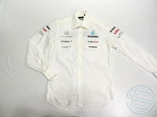 【送料無料】 メルセデス AMG 2010年 支給品 ヒューゴボス製 上層部用 後期版 長袖 シャツ メンズ 4/5 (海外直輸入 F1 非売品USEDグッズ ベンツ)