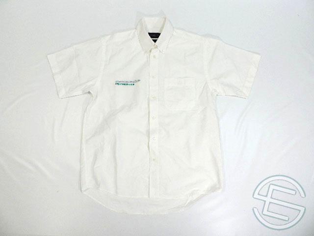 【送料無料】 メルセデス 2010年 支給品 ヘンリロイド製 トラベル用 クラシックスタイル 半袖 シャツ メンズ M 3/5 (海外直輸入 F1 非売品USEDグッズ ベンツ)