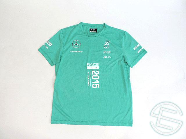 【送料無料】 メルセデス AMG 2015年 支給品 ヒューゴボス製 速乾性 ウィニング Tシャツ 半袖 メンズ M 5/5 (海外直輸入 F1 非売品グッズ ベンツ ランニング)