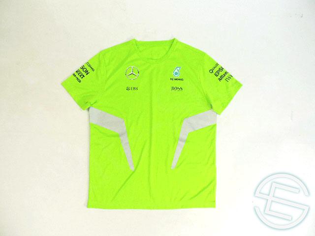 【送料無料】 メルセデス・AMG 2016年 支給品 ヒューゴボス製 セットアップ用 リフレクター版 反射素材 速乾性 Tシャツ メンズ 5/5 (海外直輸入 F1 非売品グッズ ベンツ ランニングウェア)