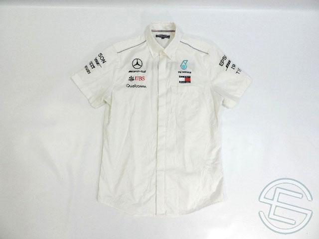 【送料無料】 メルセデス・AMG 2018年 支給品 トミーヒルフィガー製 ストレッチ素材 ピットシャツ メンズ 5/5 (海外直輸入 F1 非売品USEDグッズ)