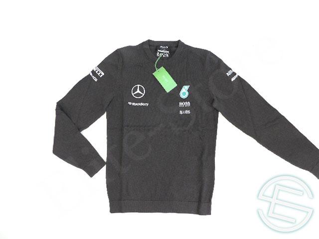 【送料無料】 メルセデス・AMG 2015年 支給品 ヒューゴボス製 コットン素材 刺繍ロゴ セーター S new 新品 (海外直輸入 F1 非売品 グッズ)