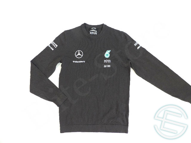 【送料無料】 メルセデス・AMG 2015年 支給品 ヒューゴボス製 コットン素材 刺繍ロゴ セーター S 5/5 (海外直輸入 F1 非売品USEDグッズ)