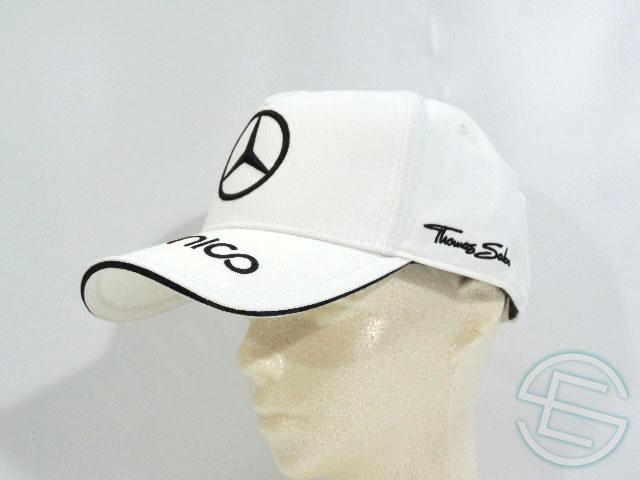 【送料無料】 ニコ・ロズベルグ 2015年 メルセデス AMG 支給品 本人用 キャップ ホワイト 白 CAP 帽子 new 新品 (海外直輸入 F1 非売品グッズ ベンツ)