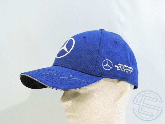 【送料無料】 バルテリ・ボッタス 2017年 メルセデス AMG 支給品 実使用 直筆サイン入り(白インク) キャップ 青 ブルー 帽子 CAP (海外直輸入 F1 非売品USEDグッズ ベンツ)