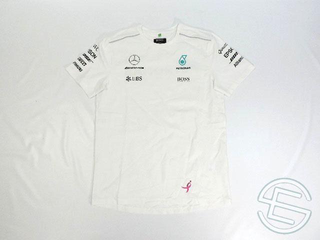 【送料無料】 バルテリ・ボッタス 2017年 メルセデス AMG アメリカGP 支給品 ヒューゴボス製 ドライバー用 ストレッチ素材 半袖 Tシャツ S (海外直輸入 F1 非売品グッズ ベンツ )