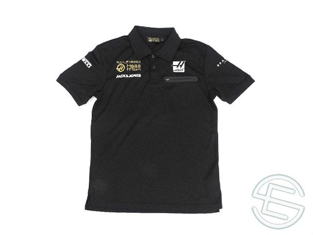 【送料無料】 リッチエナジー・ハース 2019年 支給品 ポリエステル素材 速乾性 半袖 ポロシャツ メンズ S 5/5 (海外直輸入 F1 非売品グッズ ゴルフウェア)