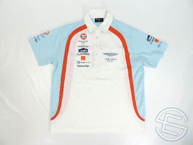 【送料無料】 ガルフ・アストンマーチン 2013年 WEC(世界耐久選手権) 支給品 ハケット製 ポロシャツ M 5/5 (海外直輸入 F1 非売品USEDグッズ)