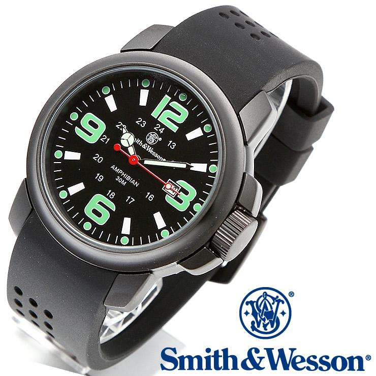 [正規品] スミス&ウェッソン Smith & Wesson ミリタリー腕時計 AMPHIBIAN COMMANDO BLACK SWW-1100 [あす楽]
