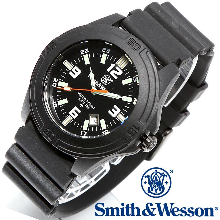 [正規品] スミス&ウェッソン Smith & Wesson ミリタリー腕時計 SOLDIER WATCH RUBBER STRAP BLACK SWW-12T-R [あす楽] [ ラッピング無料 送料無料 ]