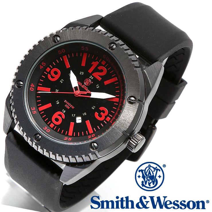 [正規品] スミス&ウェッソン Smith & Wesson ミリタリー腕時計 KNIVES WATCH BLACK/RED SWW-693-BK [あす楽]