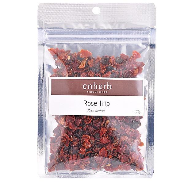【enherb公式通販】【ネコポス対応合計2点まで】 「ローズヒップ」ハーブティー茶葉30g