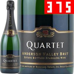 ワイン スパークリング 白 発泡 [NV] カルテット・アンダーソン・ヴァレー・ブリュット(ハーフボトル) / ロデレール・エステート / アメリカ カリフォルニア / 375ml / 発泡 白