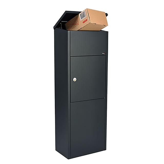 北欧デンマークのデザイン宅配ボックス Allux PARCEL ALLUX-600 ブラックスチール F54602