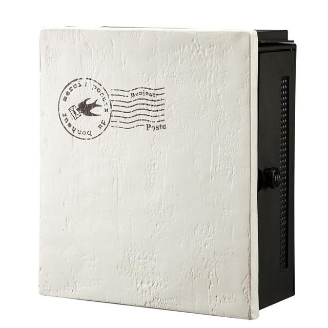 オンリーワン 郵便ポスト クーリエ スタンプ バード MY1-1832 アイボリー色 右扉仕様