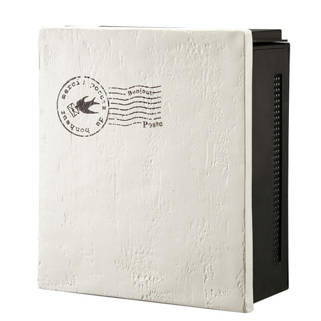オンリーワン 郵便ポスト クーリエ スタンプ バード MY1-1833 アイボリー色 左扉仕様