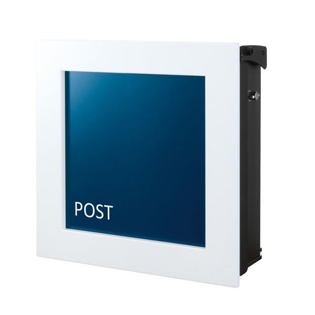オンリーワン 郵便ポスト キルカス NA1-OTK11VB ネイビーブルー色 T型カムロック