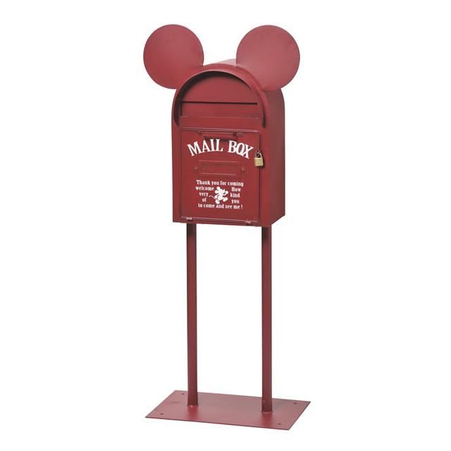 セトクラフト Disney Vintage Mickey スタンドポスト(ヴィンテージミッキー)レッド SD-6141-RD-3800