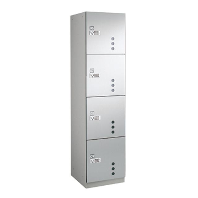 ダイケン 宅配ボックスBB4型 プッシュボタン錠タイプ(可変式) ステンレス貼扉 TBX-BB4S Sユニット