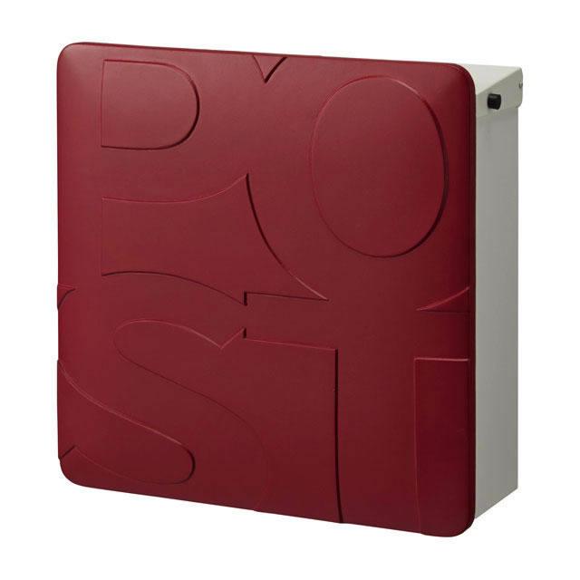 オンリーワン 郵便ポスト マルカート ボールド TC1-BD3RD パネル/レッド色×ボックス/ホワイト色